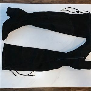 Black over the knee boots by Ivanka Trump
